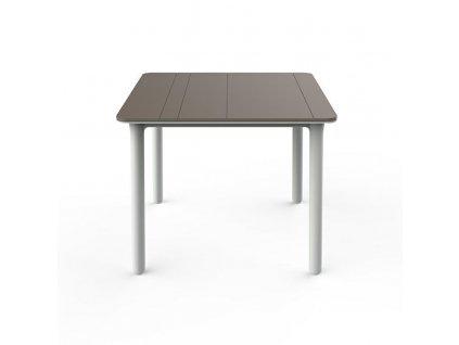Stůl Noa pískový/bílý 90x90