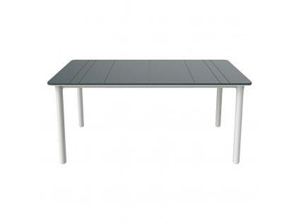 Stůl Noa šedý/bílý 160x90