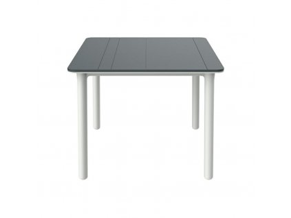 Stůl Noa šedý/bílý 90x90