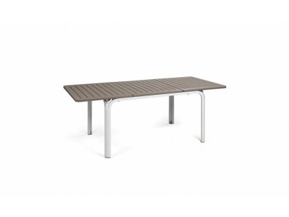 Stůl Alloro 140x100 bílý/světle hnědý
