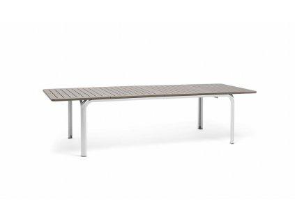 Stůl Alloro 210x100 bílý/světle hnědý