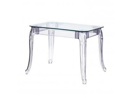 Stůl Ghost 80x120cm transparentní