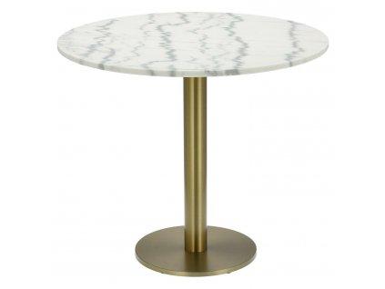 Stůl kulatý Corby II 85cm mramor/zlatý