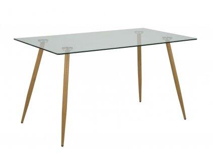 Stůl Wilma transparentní 140x80