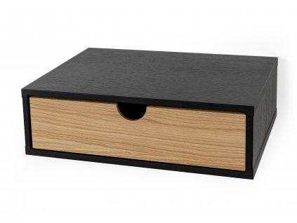 Farsta nástěnná postel černá dub