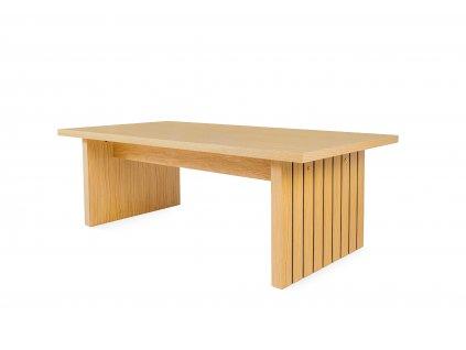 Stripe kávový stolek dub