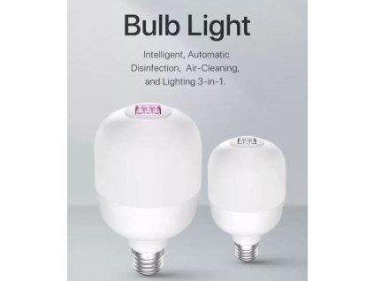 UVC dezinfekční žárovka E27 8W(60w)/6W(UV-C) 3000k - 2ks