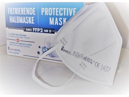 EU FFP2 - 4 vrstvý dýchací respirátor třídy FFP2 s 97,3% filtrace vyrobené v EU