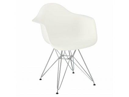 Židle P018 PP bílá, chrom nohy HF