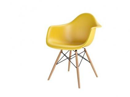 Židle P018V PP tmavě olivová, dřevěné nohy HF