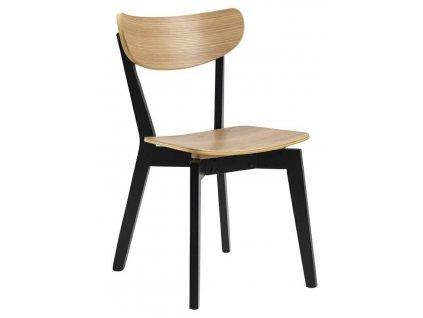 Židle Roxby přírodní černá