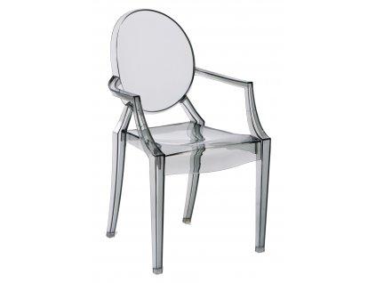 Židle Royal šedá transparent