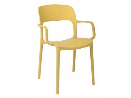 Židle s područkami Flexi olivová