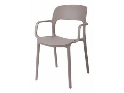 Židle s područkami Flexi světle šedá