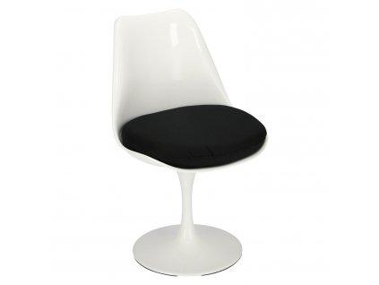 Židle Tul bílá/černý polštář