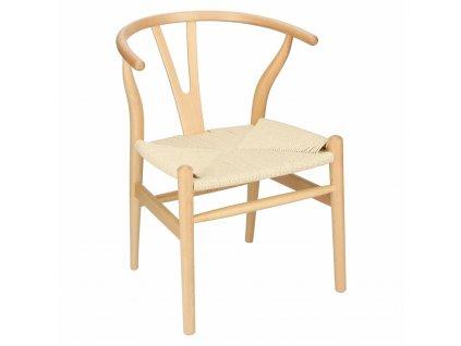 Židle Wicker přírodní přírodní inspirované inspirované Wishbone