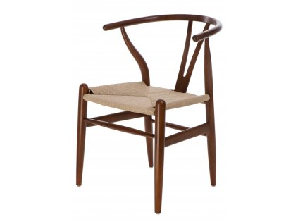 Židle Wicker přírodní tmavě hnědá a inspirované Wishbone