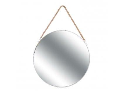 Zrcadlo kulaté Jonc 50cm bílé