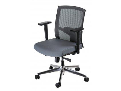 Křeslo kancelářské Ergo šedé/šedé