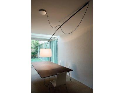 Lampa Robinson stínidlo bílé, průměr 64 cm