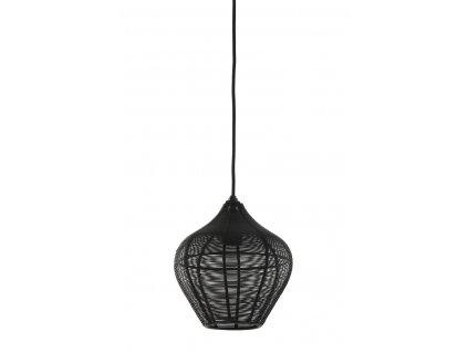 Lampa závěsná ALVARO matná černá 20x22