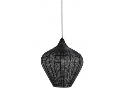 Lampa závěsná ALVARO matná černá 36x40