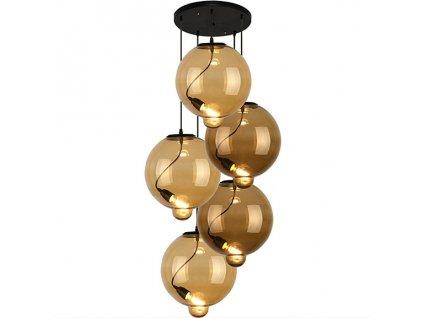 Lampa závěsná Modern Glass Bubble CO CB cognac/hnědá