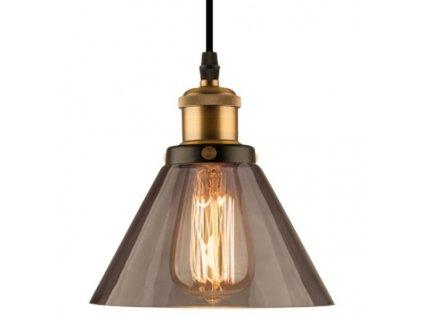 Lampa závěsná New York Loft 1 kouřová