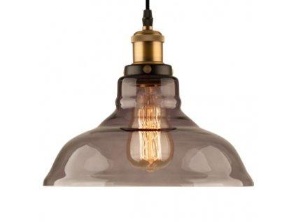 Lampa závěsná New York Loft 3 kouřová