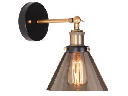 Nástěnná lampa New York Loft 1 kouřová
