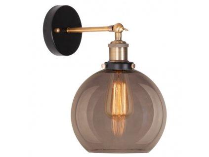 Nástěnná lampa New York Loft 2 kouřová