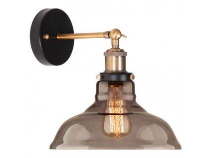 Nástěnná lampa New York Loft 3 kouřová