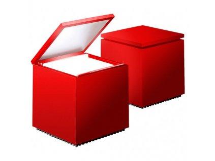 Lampička Cuboluce červená