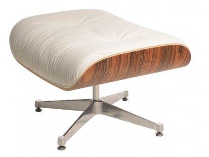 Podnožka Vip bílá/rosewood/stříbrná základna