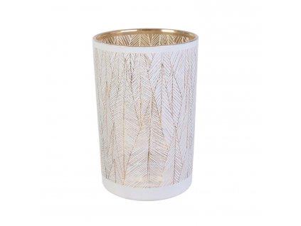 Váza Tauri bílo-zlatá