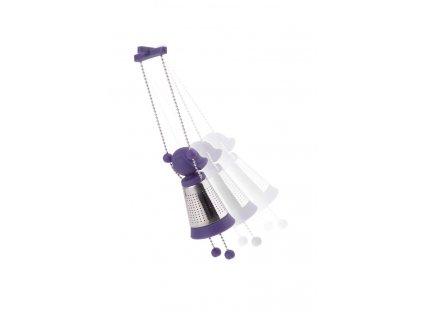 Spařovač na čaj Marionette fialový