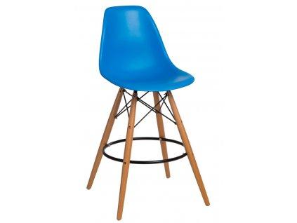 Barová židle P016V PP modrá