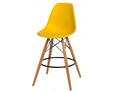 Barová židle P016V PP žlutá