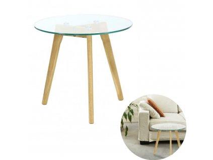 Kávový stolek Fabriano skleněný
