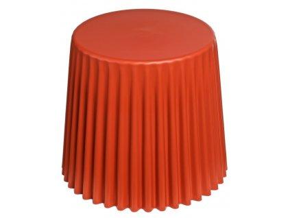 Stolek Cork tmavě oranžový