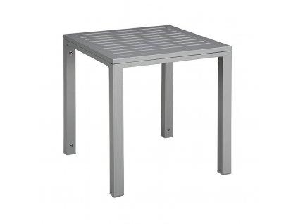 Stolek Cubic hliníková deska 45x50x50 šedý