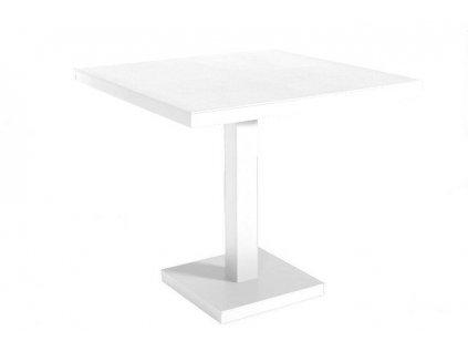 Stůl Barcino 90x90 cm s bílou centrální základnou - bílý