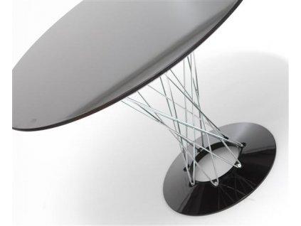 Stůl Cyklon kulatý, černý