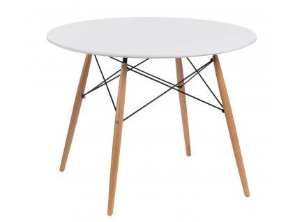Stůl DTW 100 cm, bílá deska
