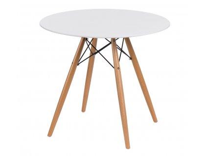 Stůl DTW 80 cm, bílá deska