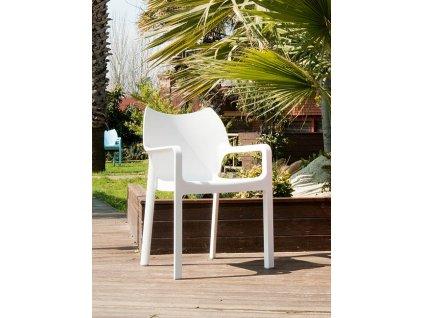 Židle Dionisio White Arm chair