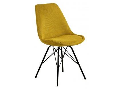Židle Eris Manšestr Žlutá