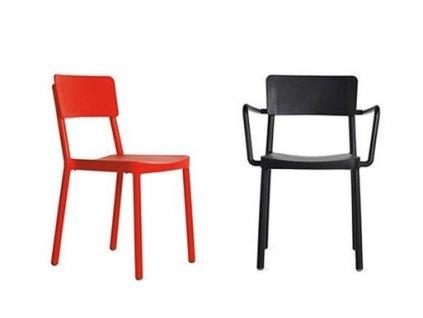 Židle Lisboa červená