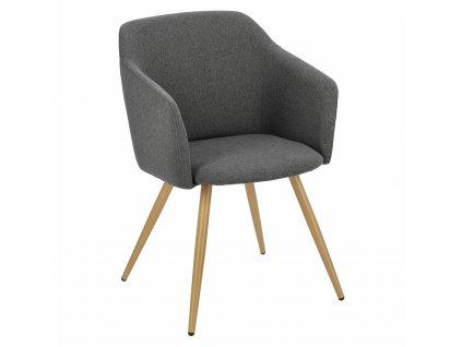 Židle Molto tmavě šedá