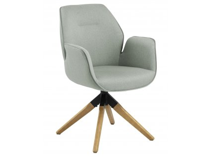Židle otočné Aura světle šedá